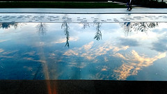 Reflecting Pool, National Museum of African American History (EmperorNorton47) Tags: washington washingtondc districtofcolumbia photo digital autumn fall nationalmuseumofafricanamericanhistory reflectingpool reflection clouds sunset