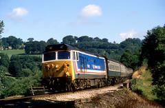 Photo of 50032 'Courageous' 1C11 Swindon-Penzance, Bodmin Parkway 28.08.1987
