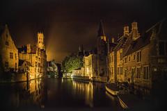 Bruges night shot (Terrycym) Tags: belgium bruges canal europe leicacameraagleicam superelmarm13421asph nocturne brugge