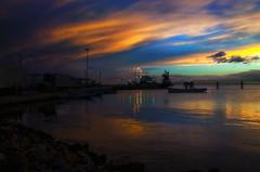 Porlamar...!! (Nita_Fotos) Tags: sundown clouds blue orange sol atardecer nubes naranja cielo barcos botes ships lecheria venezuela ocaso oceano marcaribe tuniñasalvajedelaselva
