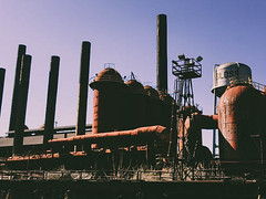 Sloss Furnace Side View | Ghastly Travels (ghastlyvongore1) Tags: furnace history historic coal sloss paranormal haunted ghost urbanlegend travel
