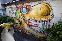 20- Day 8- graffiti outside Wat Arun temple- 1 (_gem_) Tags: travel bangkok thailand asia southeastasia graffiti streetart city street urban