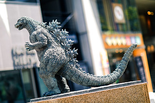 Godzilla statue at Hibiya Square