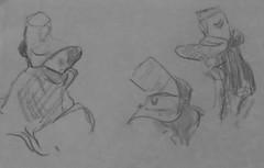 les filles de montehermoso (1) (canecrabe) Tags: esquisse crayon papier chapeau montehermoso extrémadure tradition costume paille joaquínsorollaybastida