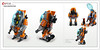 Raptor series: Road Construction (Brixnspace) Tags: raptor walker frame powersuit suit lego moc toy biped space bot system construction worker road future wheels city town