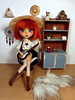 I miss Summer afternoons... (somehowcameout) Tags: wig eyes eyelashes repaint red redhead toys yarn custom pullip cute jun aurelia ooak ooakdoll own obitsu somehowcameout doll colours work room planning progress