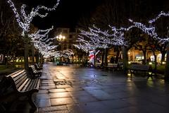 Gijón. Iluminación navideña 17-18. Plaza San Miguel. (David A.L.) Tags: asturias asturies gijón noche nocturna luces iluminación navidad navideña plaza plazuela sanmiguel