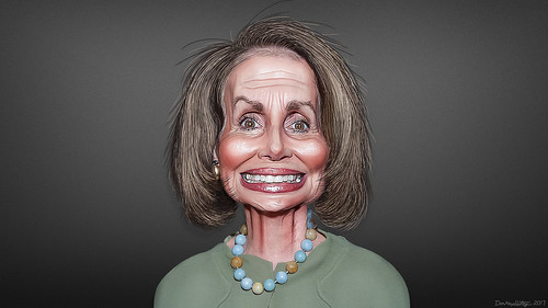 Nancy Pelosi - Caricature by DonkeyHotey, on Flickr