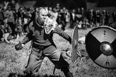 Raging (D-Noc) Tags: viking sword battle monochrome blackwhite lindholmhøje aalborg denmark danmark jylland nordjylland lightroom canon canoneos6d 85mm