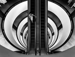 It is better to travel well than to arrive (JohnNguyen0297 (busy - on/off)) Tags: lookingdown la losangeles symmetry bnw a6000 wanderlust travelphotography sonya6000 monochrome southerncalifornia