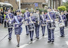 RAF Cadets At Armistice Parade Bedworth 2017 (IAN GARDNER PHOTOGRAPHY) Tags: raf cadets marching bedworth band drummers drummajor street streetphotography photojournalism blue
