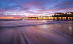 Movement (Theresa Rasmussen) Tags: outerbanks obx ocean outer banks sunrise pier north carolina longexposure northcarolina nagshead fall sunrisepink beach