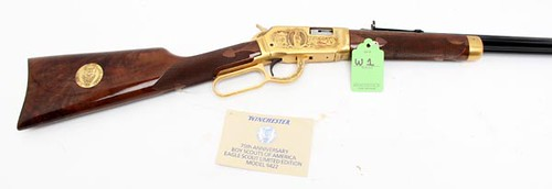 Winchester Model 9422 - 75th Anniversary Boy Scouts of America/Eagle Scout .22 cal. Lever Action Rifle ($4,928.00)