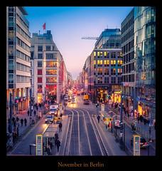 Friedrichstraße (Rukiber) Tags: berlin stadt hauptstadt deutschland architektur friedrichstrase christian k rukiber reisen d750 nikon blaue stunde