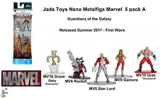 Jada Toys Nano Metalfigs Marvel/Guardians of the Galaxy 5 Pack A -  1st Wave