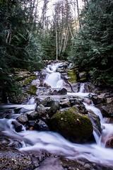 Waterfalls along the way to Annette Lake, Snoqualmie Pass, WA (plottsdaniel) Tags: washington seattle pnw forest woods hd dslr create explore longexposure nikkor nikon snoqualmiepass snoqualmie waterfalls waterfall