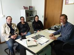 Reunião com Produtores de Vídeos Nani e Betina e Ronald chefe de Gabinete do Dep. Romanelli