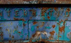 Tailgate Abstract (jtr27) Tags: dscf4438xl jtr27 fuji fujifilm fujinon xt20 xtrans xf 35mm f2 f20 wr rwr international harvester truck tailgate maine junkyard abstract peelingpaint