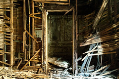 Door Frames (jessemgoldman) Tags: detroit school abandoned forgotten urbex city urban elementary institution education decay door frame wood pieces disintegrating disintegrate