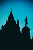 Alexander Mackenzie in the shadow of the Library (Dan Haug) Tags: canadian history alexandermackenzie primeminister parliamenthill library silhouette ottawa fujifilm xpro2 xf23mm xf23mmf14r