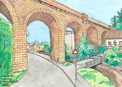 Bartasec (Rodrigo (Japão)) Tags: water colors street sketch bartasec france bridge brick tijolo ponte aquarela