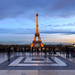 Paris and Trocadéro selfie square