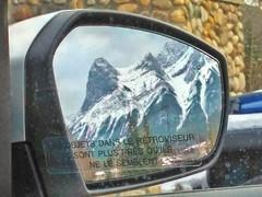 Les objets dans le retroviseur (altamons) Tags: altamons rearviewmirror rearview mirror rundle mountrundle mountains mountain canadian canadianrockies rockies rockymountains canada canmore alberta mountainview