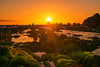 Spectacular (sonica@2006) Tags: spectacular moss growing strange rock sunset dyed orange color it was really japan chiba tateyama shore xm xf35mm