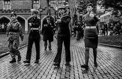 Girl Power (IAN GARDNER PHOTOGRAPHY) Tags: girls cadets young women uniform marching parade march bedworth street streetphotography streetportrait army royalnavy royalairforce monochrome monochromeportrait soldiers sailors wrens blackandwhite blackwhite warwickshire armisticeday beautiful candid wheelchairs