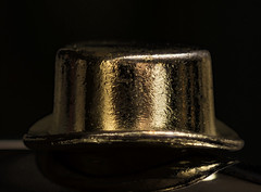 Game pieces: Monopoly top hat macro (Peeb-OK) Tags: macro macromondays monopoly gamesorgamepieces gold black gamepieces