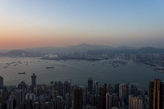 victoria harbour (Greg Rohan) Tags: urban hongkongharbour hongkong d7200 2017 mountain ocean skyline water city asia china bay victoria sea sunset sky skyscrapers cityscape