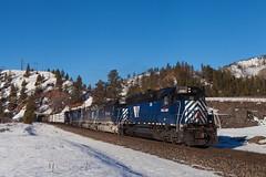 Bonita (jameshouse473) Tags: mrl tunnel montana rail link bonita beavertail snow sd45