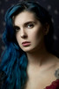 Sapphire (Giulia Valente) Tags: portrait portraits portraiture dark shadow light blue beauty beautiful romance romantic one alone looking mood inspiring story woman dream