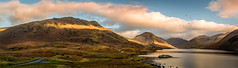 Wast Water - Lake District - Cumbria [explore 06 12 2017] (urfnick) Tags: yellow panorama canon eos 1300d thelakedistrict thelakes england gb nationalpark mountains clouds lake water sunlight sunrise autumn fells hills island rocks birds explore explored sundaylights