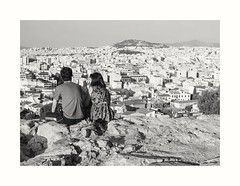 Athens with love (oiZox) Tags: athens greece streetphotagraphy landscape city cigarettes cityscape fotourbana love couple europe blackandwhite blancoynegro bw monocromatico monochrome mono people light