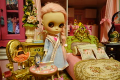 Introducing Princess Pinky! (Primrose Princess) Tags: takara blythe doll custom pink alpaca reroot customblythe pinkalpacareroot chinalilly kaleidoscopecustomeyelids princesspinky blythedoll pinkdreamgirl dollydreamland
