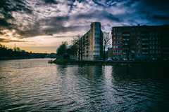 Malmö City (explore 2017-12-10) (Maria Eklind) Tags: street water sweden rörsjökanalen clouds moln canal skåne malmö outdoor cityview sky streetview buildings himmel kanal city skånelän sverige se building tree