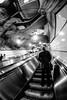 The Third Man (agruebl) Tags: thethirdman thirdman drittermann resurface auftauchen fujixpro2 blackandwhite schwarzweiss subway underground ubahn wien vienna rolltreppe tiefe abyss weitwinkel ultraweitwinkel fisheye