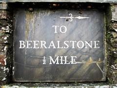 Beeralstone Milestone Half a mile West Devon (Bridgemarker Tim) Tags: berealston westdevon fingerposts milestones