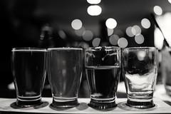 Craft Beer Flight. Cincinnati. (icarium82) Tags: sundaylights monochrome beer sonydscrx1rm2 travel usa cincinnati ohio bar flight craft pint drink bnwblackandwhiteblackwhitewhiteandblackwnbschwarzweis ipa bokeh indoor night lights