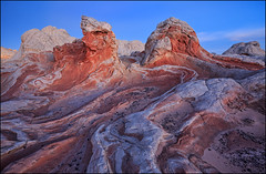 Trip to Mars (jeanny mueller) Tags: usa southwest arizona coyotebuttes whitepocket rock stone swirl landscape sunset sunrise vermillion cliffs