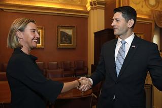 Federica Mogherini's visit to Washington, November 2017