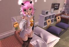 D-Do you want to share? (Yukiterudiary) Tags: kemono avatar mesh bento tamagosenbei gacha item lamb mauve anime head kawaii cute sl secondlife