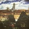Siena Cathedral : Location: Siena, Italy : iPhone 6s (Tankartartid) Tags: stadsbild cityview view utsikt takåsar tak roofs rooftop träd trees hus buildings building stenhus gammalstad oldtown stad city sienna katedral kyrka church sienacathedral cathedral italien italy siena instagram ifttt