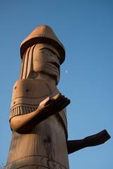 DSC_7852 (Copy) (pandjt) Tags: chilliwack bc britishcolumbia stólō stolo yakweakwioose firstnation yakweakwioosefirstnation terryhorne chiefterryhorne welcomefigures welcome sculpture carving publicart
