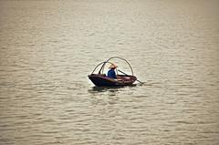 Infinity (Jecika381) Tags: water vietnam bay boat fisherman loneliness sea ocean halong