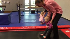 """Dani Bounces with Mommy in Her Gym Kittens Gymnastics Class • <a style=""""font-size:0.8em;"""" href=""""http://www.flickr.com/photos/109120354@N07/37662288164/"""" target=""""_blank"""">View on Flickr</a>"""