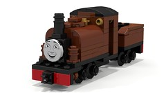 Lego Wallpaper - Duke (RWS) (ClockworkBrownie) Tags: lego moc duke thomas rws train locomotive render wallpaper