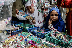 Give Me A Time To Make A Choice (risza.setiawan) Tags: people street human interest kids children school toy daily indonesia sumatera asia