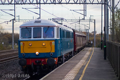 Electric Blue (CS:BG Photography) Tags: tamworth tam westcoastmainline wcml thecathedralsexpress excursionspecial chartertrain railtour class86 al6 westcoastelectric westcoastrailways wcr wcrc westcoastrailwaycompany lesross peterpan e3137